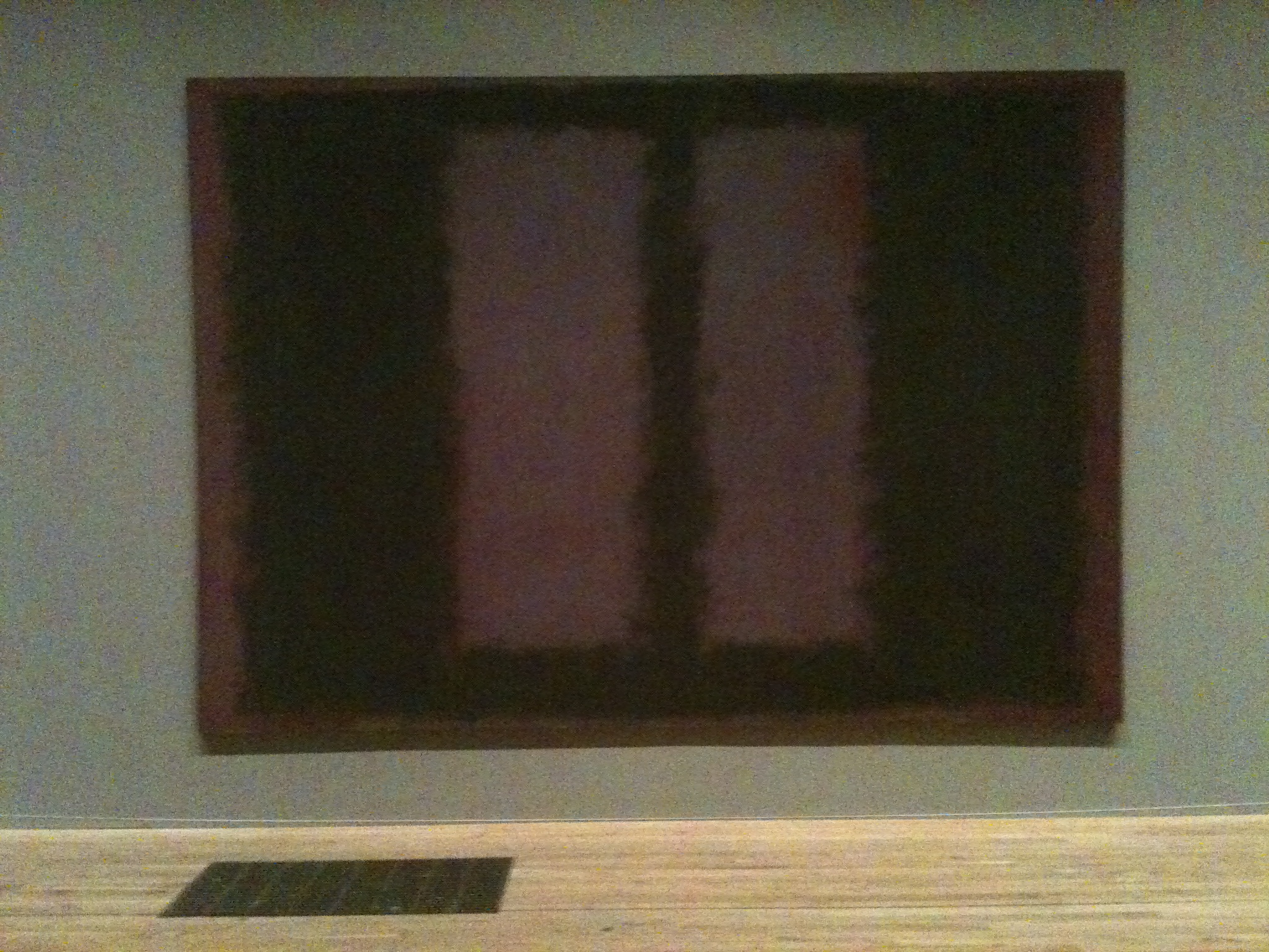 From the Rothko room at the Tate Modern. Rothko   Hywel W  Sims